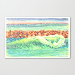 California in Crayon Canvas Print