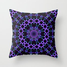 Light Structures Mandala Throw Pillow