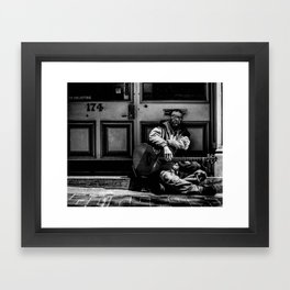 no soliciting Framed Art Print