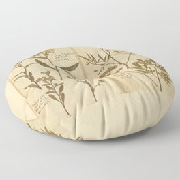 PRESSED FLOWERS Floor Pillow