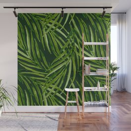 Tropical leaf pattern Wall Mural