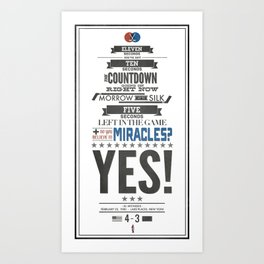 Miracle on Ice Art Print