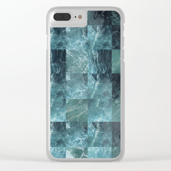 Abstract sea Clear iPhone Case