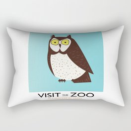 visit the zoo owl Rectangular Pillow