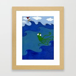 The Octopus and the Boat Framed Art Print