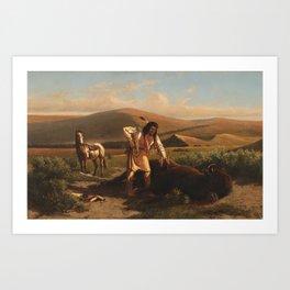 Buffalo Hunt by William de la Montagne Cary Art Print