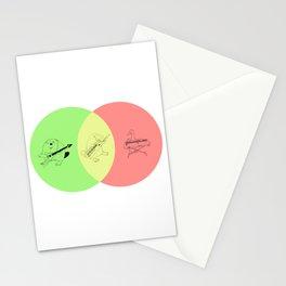 Keytar Platypus Venn Diagram - GYR Stationery Cards