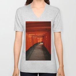 The Torri Gates of Fushimi Inari Taisha Unisex V-Neck
