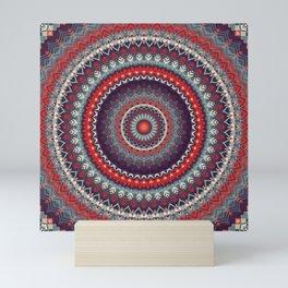 Red Skies Mandala Mini Art Print