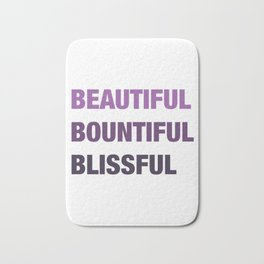 Daily mantra in purple Bath Mat