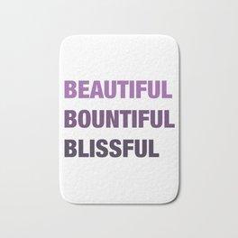 Daily mantra in purple Bath Mat