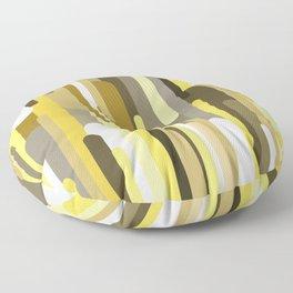 Flowing drops of paint in gold yellow, abstract liquid flow, golden background Floor Pillow