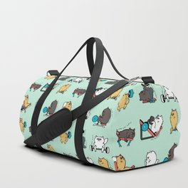 Leg Day with Persian Cat Duffle Bag
