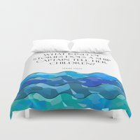 humor Duvet Covers featuring Maritime Humor for Kids by Liesl Marelli