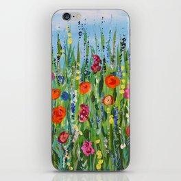 Wildflower Meadow2, Abstract Floral Art, Flower Field iPhone Skin