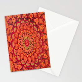Mandala on copper plate 2 Stationery Cards
