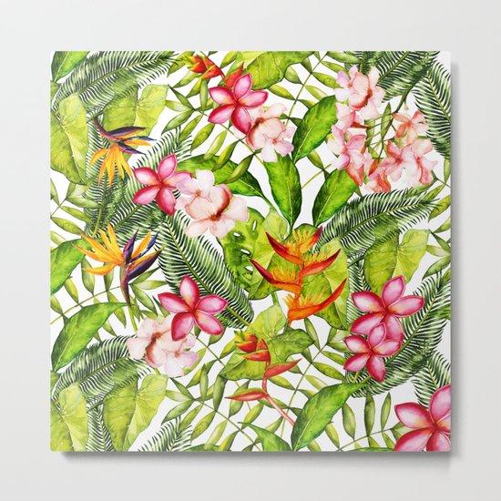 My Aloha Tropical Flower Hibiscus Garden on #Society6 Metal Print