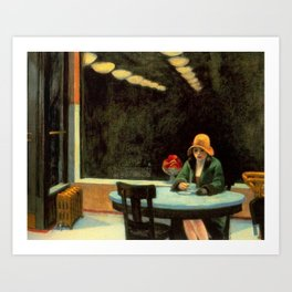 AUTOMAT - EDWARD HOPPER Art Print
