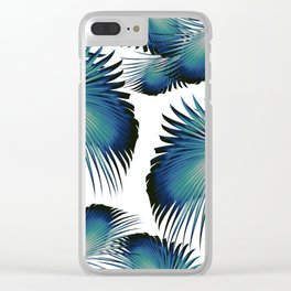 Fan Palm Leaves Paradise #1 #tropical #decor #art #society6 Clear iPhone Case