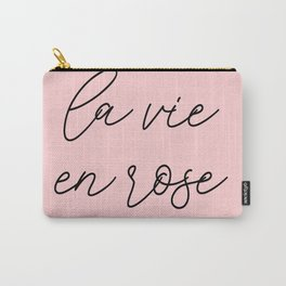 life in rosy hues, life in pink Carry-All Pouch