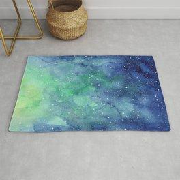 Northern Lights Sky Galaxy Rug
