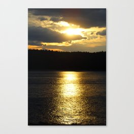 Sunset at Concord's Walden Pond 6 Canvas Print