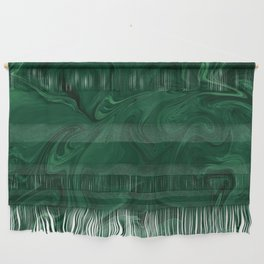 Modern Cotemporary Emerald Green Abstract Wall Hanging
