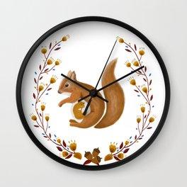 Pregnant Squirrel Wall Clock