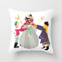 snowman Throw Pillows featuring Snowman by Design4u Studio