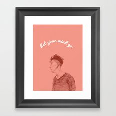 Let Your Mind Go(o) Framed Art Print