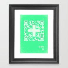 QR more Framed Art Print