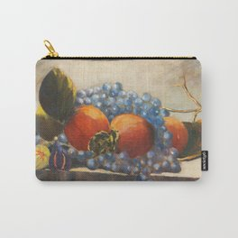 Still-life with lotus, grapes and fig - print of 16x20 in. original Alfonso Palma oil painting Carry-All Pouch