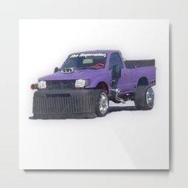 Purple car Metal Print