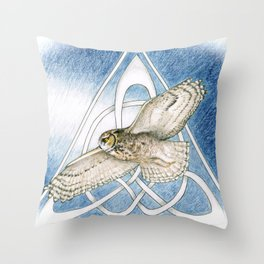 Great Horned Owl soft framed Throw Pillow