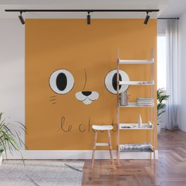 Le Chat (Orange) Wall Mural