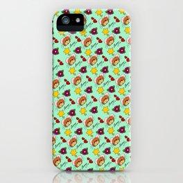 Hammy Pattern in Mint Green iPhone Case