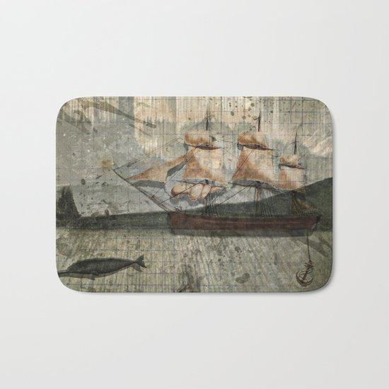 paper III :: octopus/ship Bath Mat