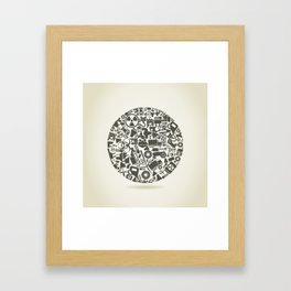 Industry a sphere Framed Art Print