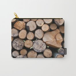 Pine wood logs Carry-All Pouch