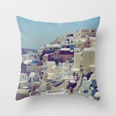 Oia, Santorini, Greece III Throw Pillow