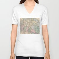 canada V-neck T-shirts featuring Oh Canada by Catherine Holcombe