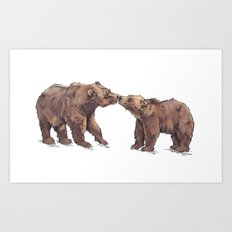 Bears in Love Art Print