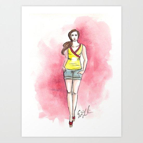 Yellow Top Art Print