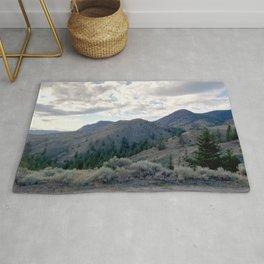 Kamloops mountains scene Rug