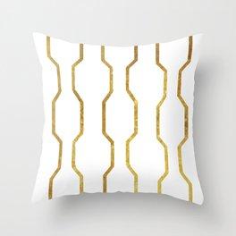 Gold Chain Throw Pillow