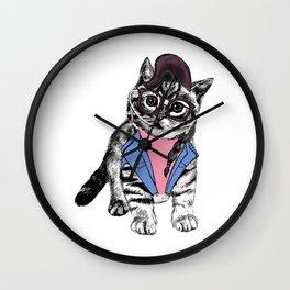 Cat Glasses Wall Clock