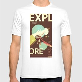 Vintage Space Poster Series I - Explore Space - It's Fun! T-shirt