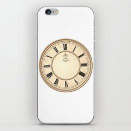 Classy Vintage Birdcage Decorative Clock iPhone Skin