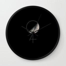 Moon and Woman Symbol Wall Clock