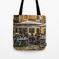 Al fresco dining Barcelona Tote Bag